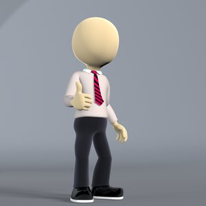 3dsmax character white human stickman