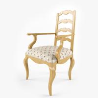 max century chair ladderback arm