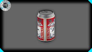 beer soda 3d model