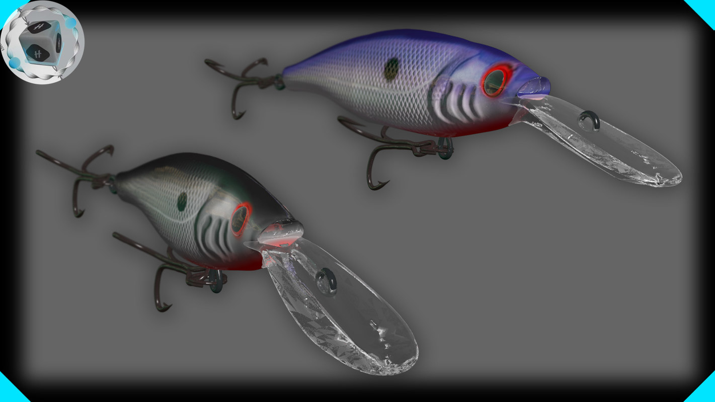3dsmax fishing crank baits