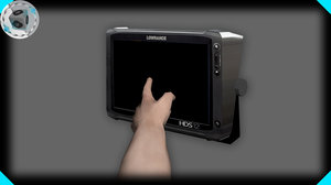 lowrance fishing finder 3d model