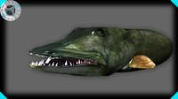 muskie head 3d model