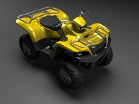 3d high-poly quad bike
