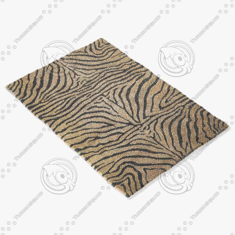 3d model rug tia m1020