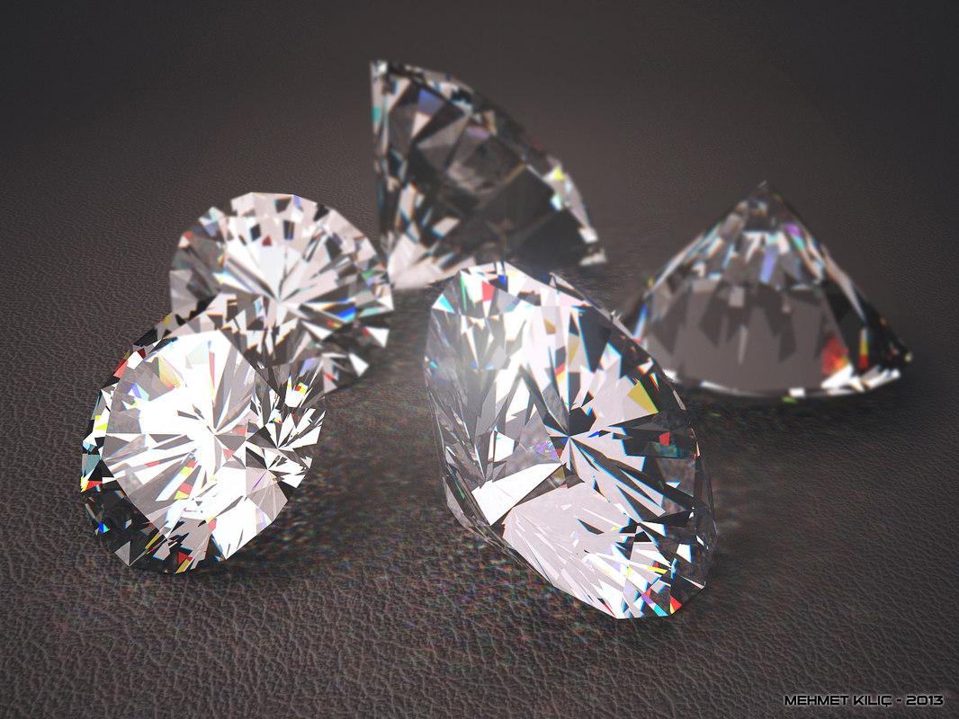 photorealistic diamond realistic 3ds
