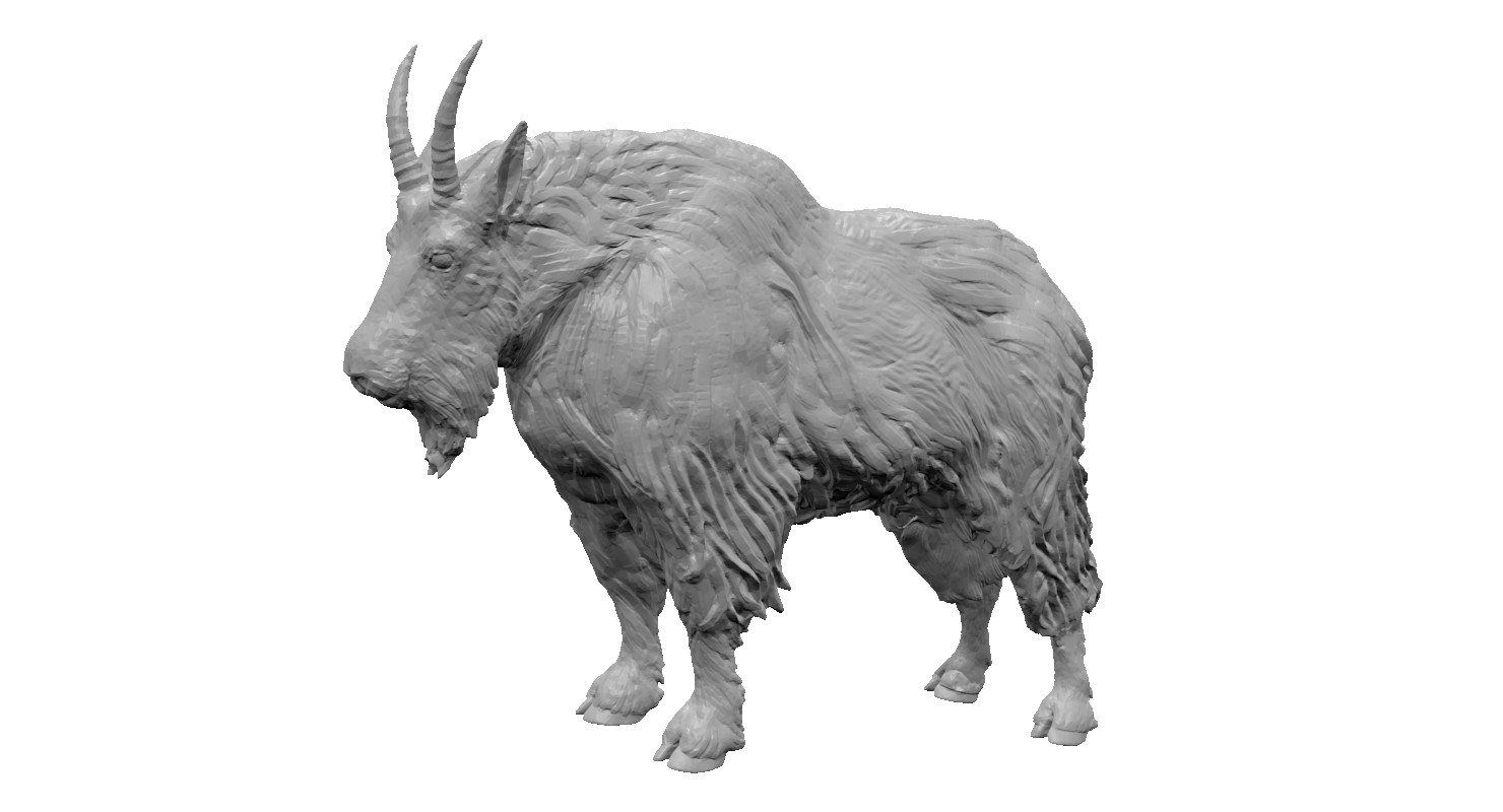 3d mountain goat