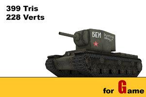 ww ii soviet tank 3d model