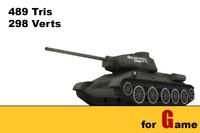 T 34 tank lowpoly