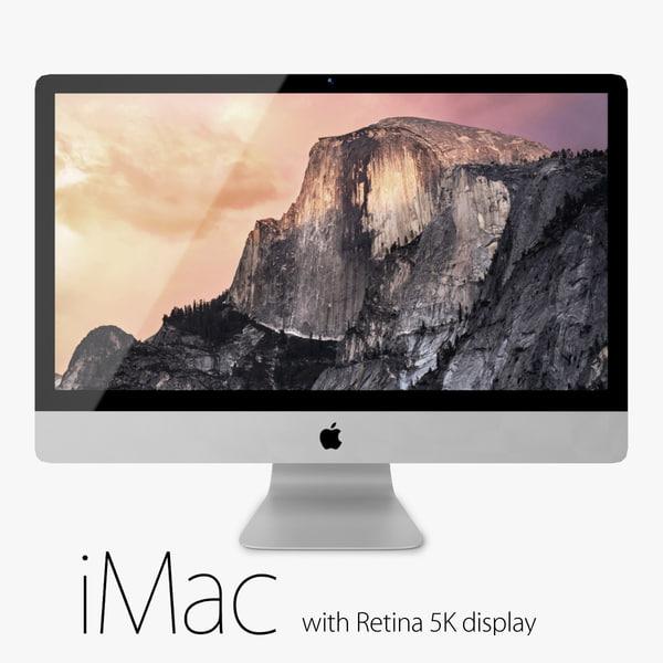 apple imac retina 5k obj