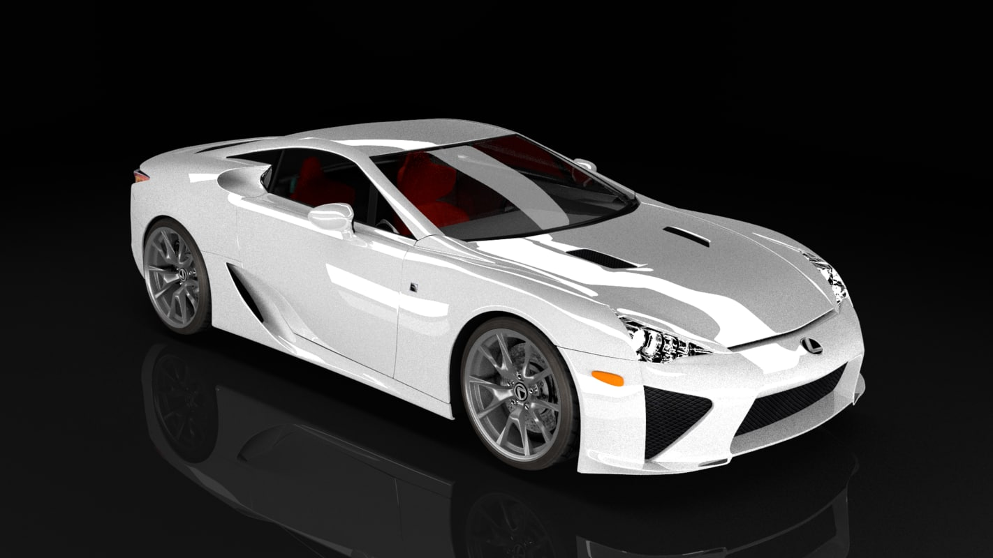 3d model lexus lfa