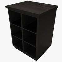 3d storage cabinet model