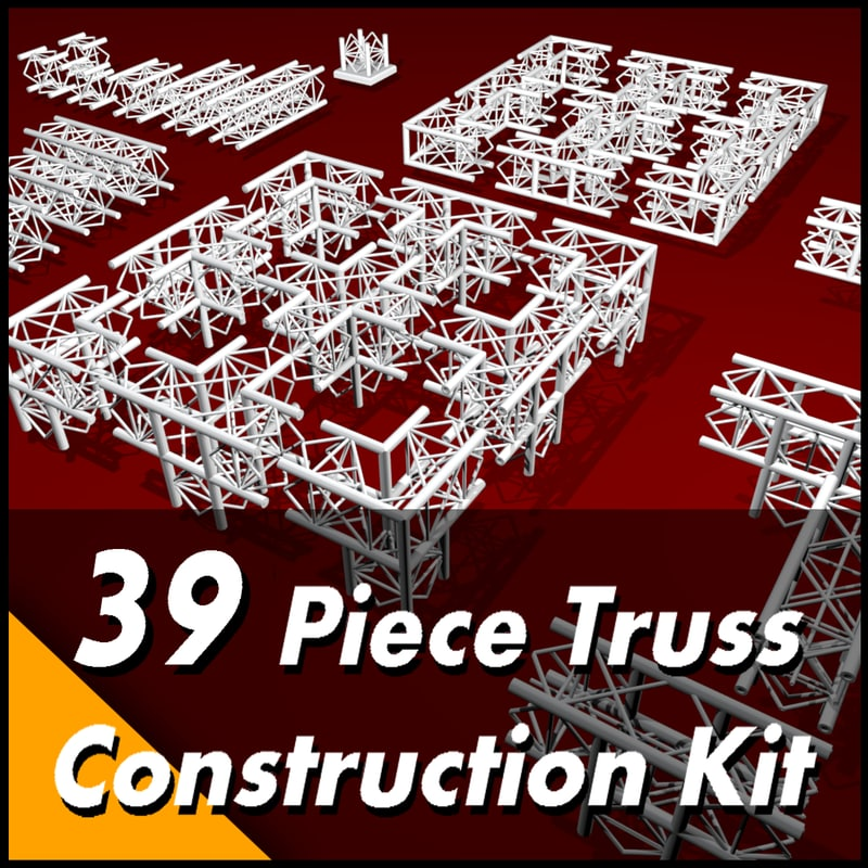 3d truss construction kit model