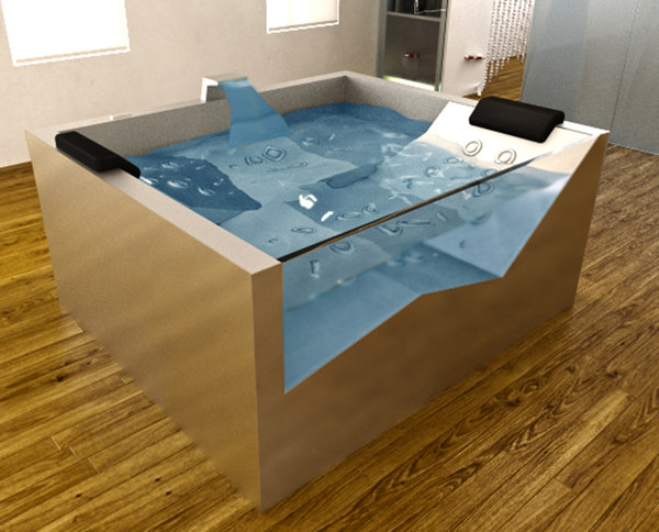 3d metal steel jacuzzy model