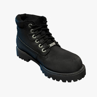 Boots Leather Men's Cleaned up 3D Scan