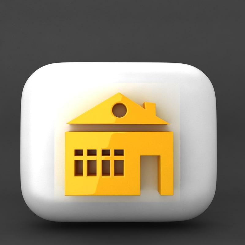 web icon 3d model