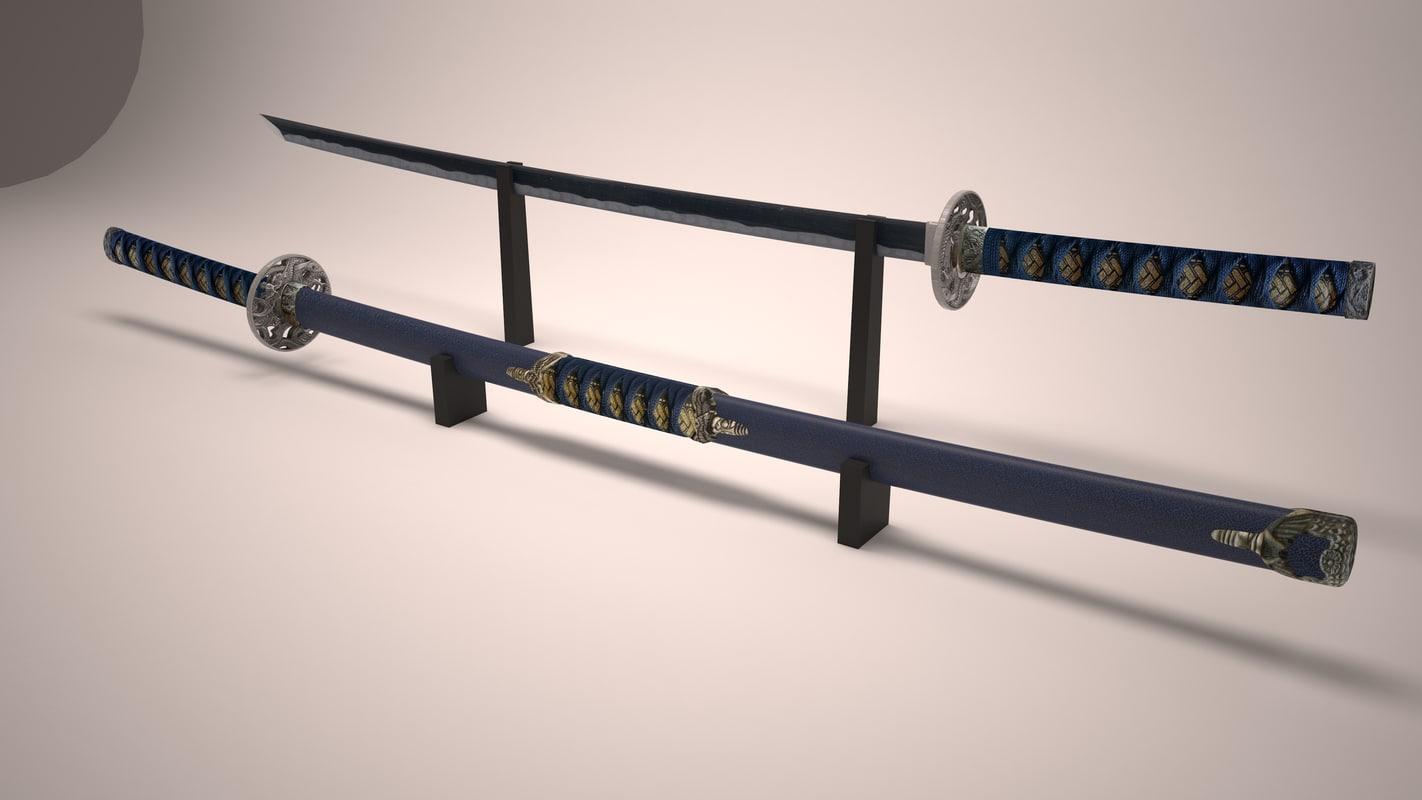 katanas 3d model