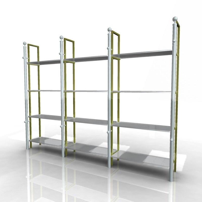 3d model of product racks pipe