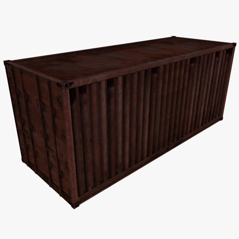 3ds max ready shipping container