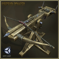 3d model medieval ballista