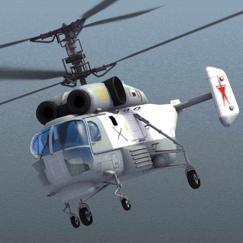 3d model ka-27 helix helicopter