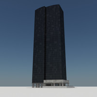 3d model - skyscraper building tile