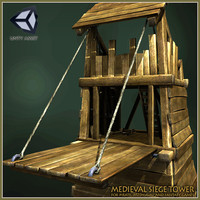 Animated Medieval Siege Tower