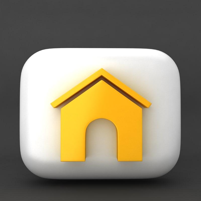 web icon home 3d max