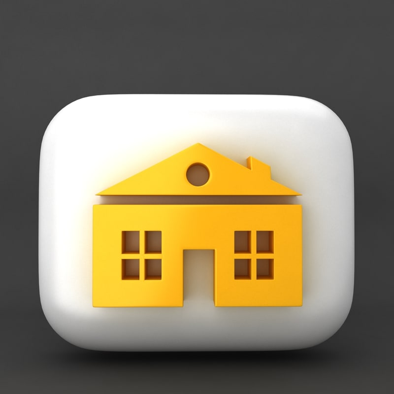 3d icon home
