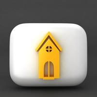 web icon home 3d 3ds