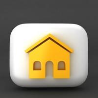 3d model web icon home