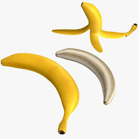 banana peeled model