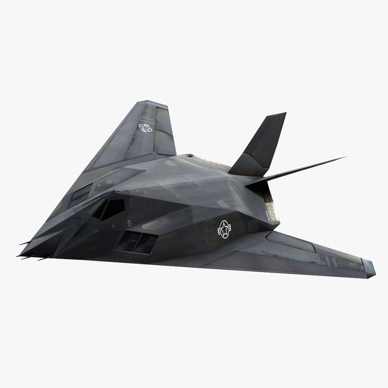 3d lockheed f-117 nighthawk stealth bomber model