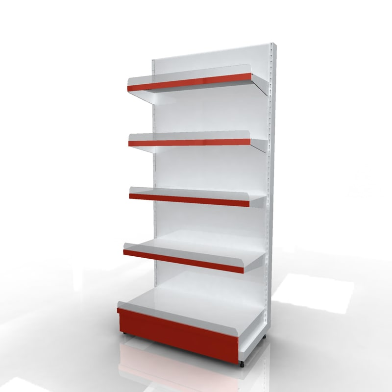 3d product wall racks model
