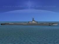3d subs balao class submarines