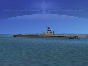 subs balao class submarines 3d 3ds
