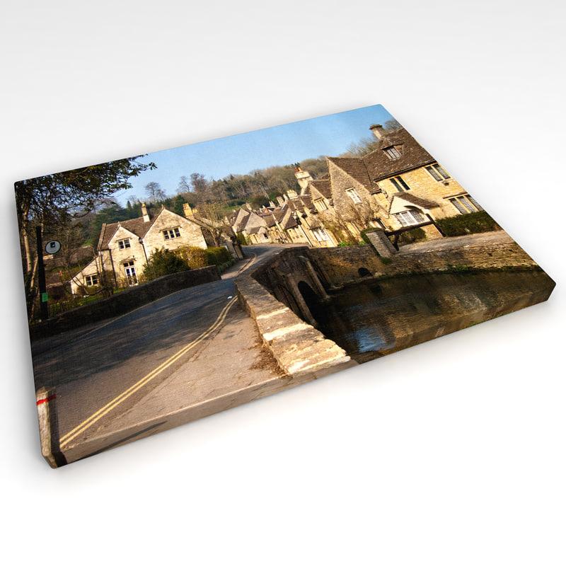 canvas wall photo 3d model