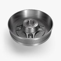 3d model brake drum