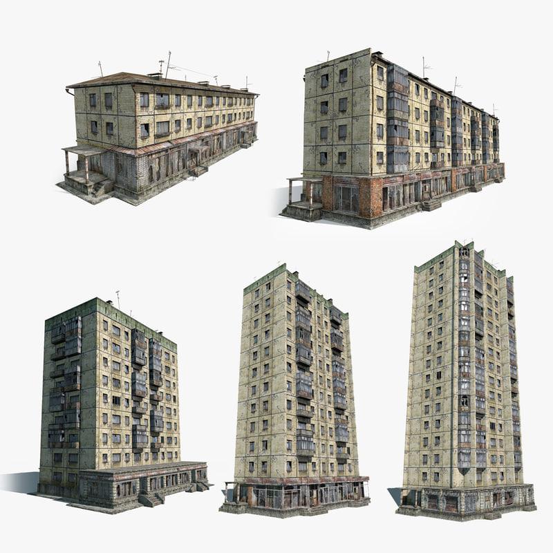 3d set houses