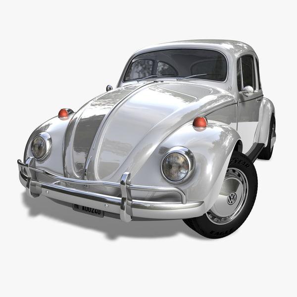 kaefer beetle 1966 car 3d c4d
