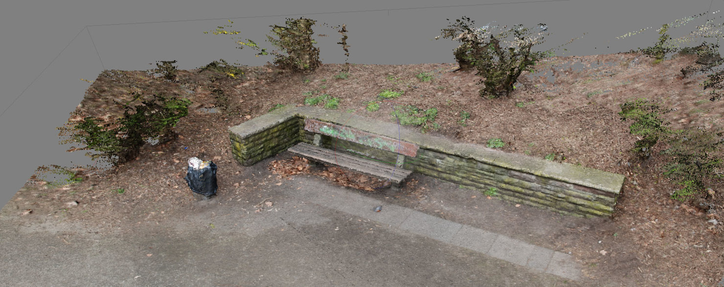 pointcloud points clouds bench 3d model