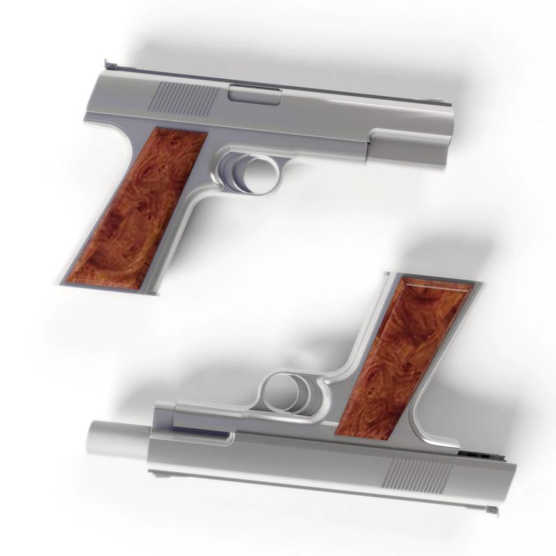 3d sokolovsky automaster pistol model