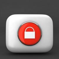 3ds max web lock icon