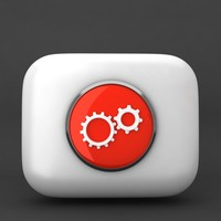 gear icon 3d model
