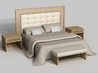 classic bed c4d