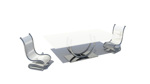 ma glass table chair