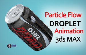3d droplets coca cola zero