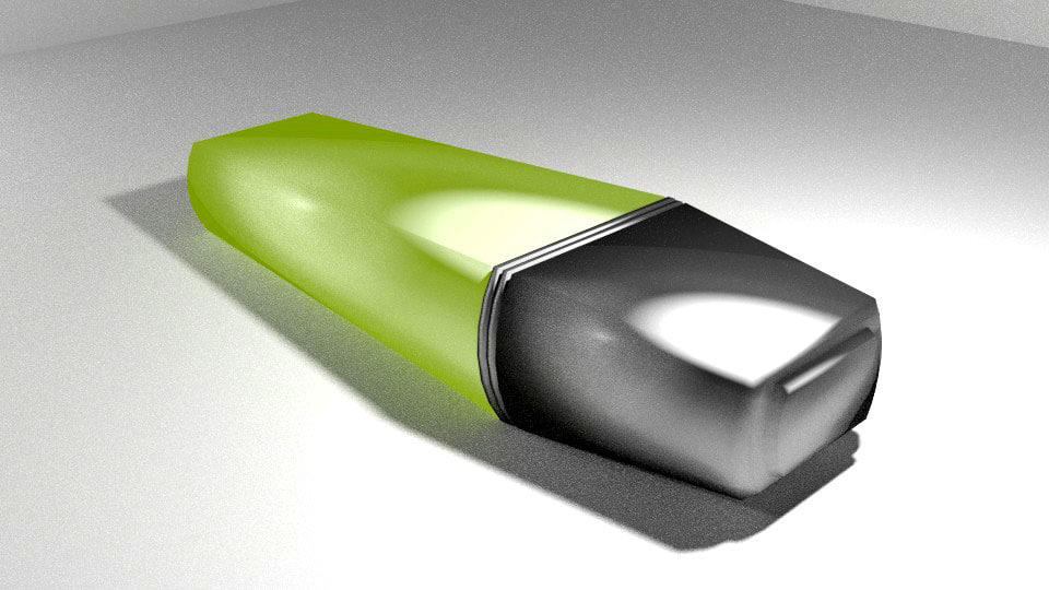 highlight pen 3d model