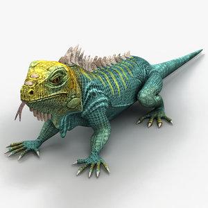 3d max iguana lizard