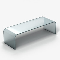 3d model of coffee table glass