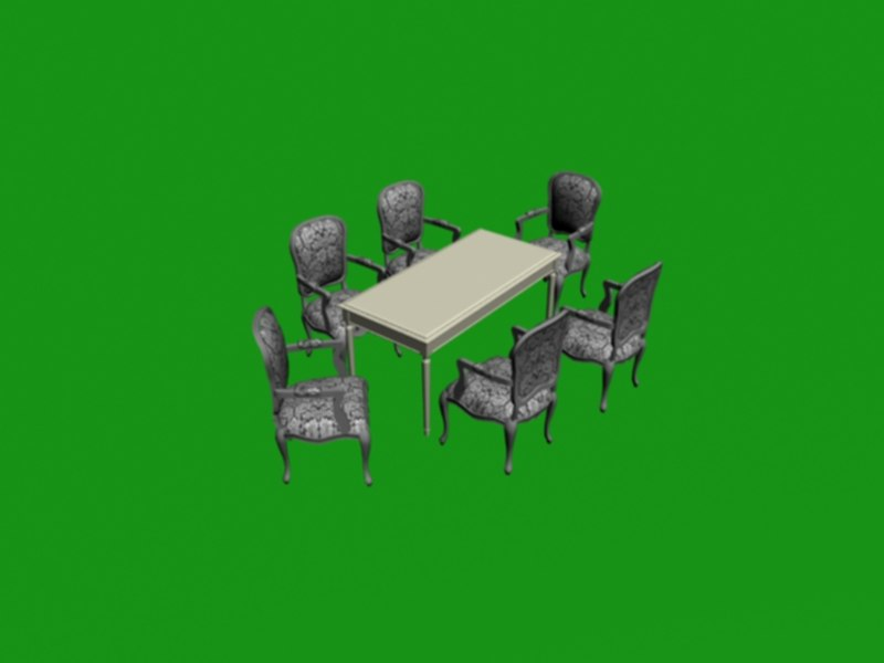 table chair 3d max